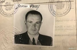 FILE - Jakiw Palij, a 95-year old former New York City man believed to be a former guard at a labor camp in Nazi-occupied Poland, is pictured in a 1949 visa photo in this undated handout image obtained by Reuters Aug. 21, 2018.