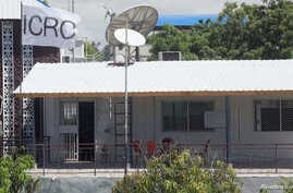 An International Committee of the Red Cross (ICRC) flag flutters in their compound in Madina District of Mogadishu, Somalia, May 3, 2018..