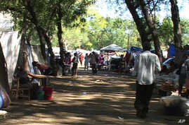 Scene at a tent city in Port-au-Prince
