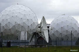 A satellite dish once operated by the U.S. National Security Agency is seen in Bad Aibling, south of Munich, Germany (file photo).