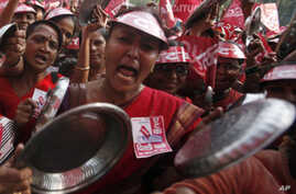 Thousands Protest High Food Prices in India