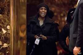 Omarosa Manigault arrives at Trump Tower, in New York, Jan. 2, 2017.