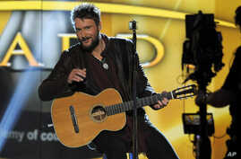 Singer Eric Church performs at the 48th Annual Academy of Country Music Awards at the MGM Grand Garden Arena in Las Vegas on Sunday, Apr. 7, 2013.
