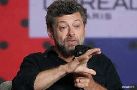 "Director Andy Serkis attends a news conference to promote the film ""Breathe"" at the Toronto International Film Festival in Toronto Canada, Sept. 12, 2017."
