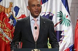 Haiti's President Michele Martelly, (File photo August 11, 2011).