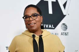 "FILE - Producer Oprah Winfrey attends the ""Released"" special screening during the Tribeca TV Festival at Cinepolis Chelsea."