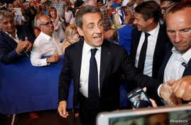 Nicolas Sarkozy, former head of the Les Republicains political party and a former French president, attends his first political rally since declaring his intention to run in 2017 for president, in Chateaurenard, France, Aug. 25, 2016.