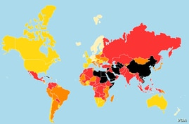 Map: Reporters Without Borders 2017 World Press Freedom rankings