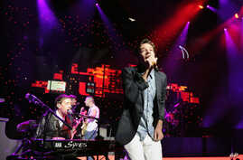 Nate Ruess of the band fun. performs at Radio City Music Hall on Feb. 2, 2013 in New York City.