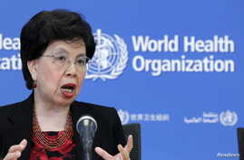 World Health Organization (WHO) Director-General Margaret Chan addresses the media on WHO's health emergency preparedness and response capacities in Geneva, Switzerland, July 31, 2015.