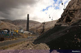 FILE - A view of the smelting complex of La Oroya in Peru's central Andes at nearly 3,800 meters (12,500 feet), in La Oroya, Peru.