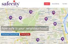 The SafeCity website is an online platform that crowdsources incidents of sexual harassment in public spaces in India, allowing women and authorities to see areas of concern.
