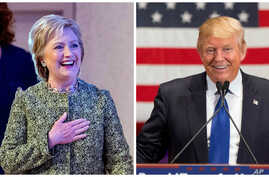 Democratic presidential candidate Hillary Clinton, left, and Republican presidential candidate Donald Trump are the front-runners going into Super Tuesday contests.