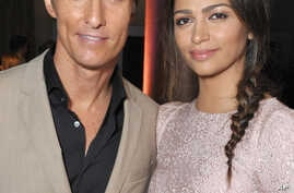 Matthew McConaughey, left, and Camila Alves McConaughey attend the 86th Oscars Nominees Luncheon, on Monday, Feb. 10, 2014.