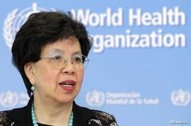 World Health Organization (WHO) Director-General Margaret Chan addresses the media on support to Ebola affected countries, at the WHO headquarters in Geneva September 12, 2014.  REUTERS/Pierre Albouy (SWITZERLAND - Tags: HEALTH POLITICS HEADSHOT) - R