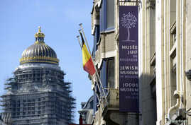 A general view of the Jewish Museum, site of a shooting, is seen in central Brussels, Belgium, May 25, 2014.