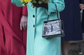 Queen Elizabeth II at an Easter Service at Windsor Castle, April 16, 2017. The queen turns 91, April 21, 2017.