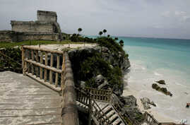 A view of the ancient ruins of Tulum, Mexico, Aug. 20, 2007.