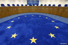 General view of the plenary room of the European Court of Human Rights in Strasbourg, Nov. 27, 2013.