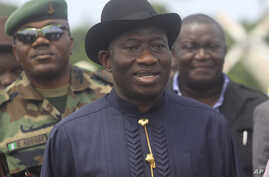 Nigerian President Goodluck Jonathan (file photo)