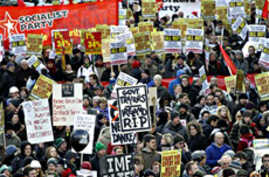 Thousands of Irish Protest Austerity Measures