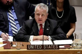 U.S. Deputy Secretary of State John Sullivan speaks at the United Nations Security Council, Jan. 19, 2018.