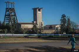 The Sibanye-Stillwater Driefontein gold mine near Johannesburg is pictured, May 5, 2018. An earthquake that hit the area of the mine has resulted in seven deaths, the mine owner said.