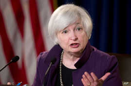 Federal Reserve Chair Janet Yellen speaks during a news conference following a Federal Open Market Committee meeting in Washington, June 17, 2015.