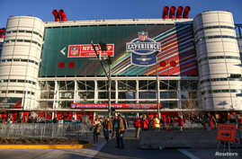 General view of the entrance to the NFL Experience in downtown Houston prior to Super Bowl LI between the New England Patriots and the Atlanta Falcons in Houston, Texas, Jan. 28, 2017. (Credit: Troy Taormina-USA TODAY Sports)
