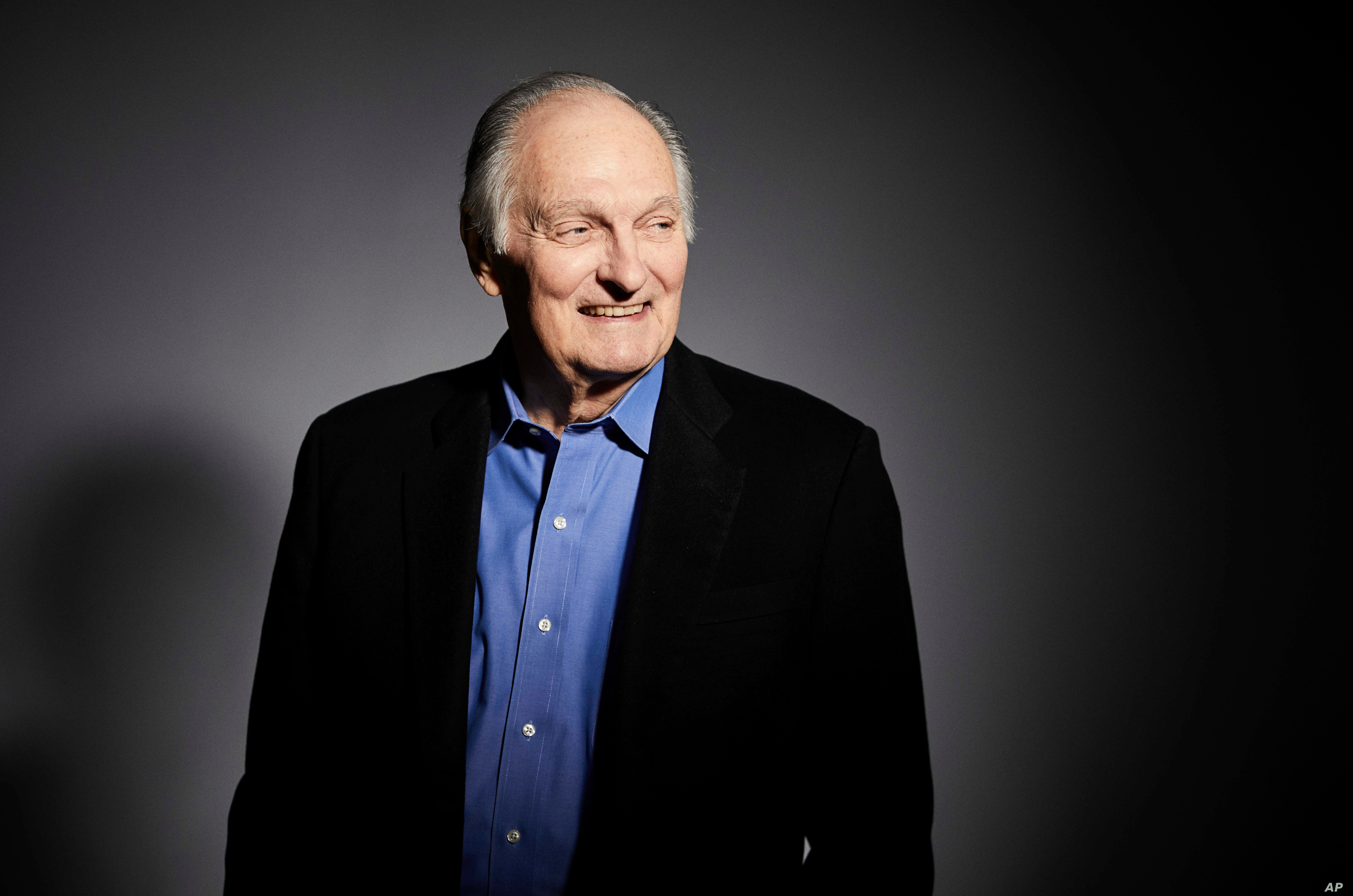 FILE - Actor Alan Alda poses for a portrait in New York, Oct. 25, 2018.