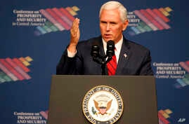 Vice President Mike Pence speaks during a conference on Prosperity and Security in Central America, June 15, 2017, in Miami.