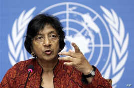 U.N. High Commissioner for Human Rights South African Navanethem Pillay