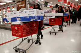 Shoppers take advantage of Black Friday sales at a Target store in the Brooklyn borough of New York City, Nov. 25, 2016.