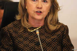 US Secretary of State Hillary Clinton talks during the Global Counterterrorism Forum Ministeral Level Plenary and 2nd Coordinating Committee Meeting held at the Conrad Hotel in Istanbul on June 7, 2012.