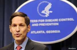 FILE - Dr. Thomas R. Frieden, Director of the Centers for Disease Control and Prevention, is shown at the agency's headquarters on in this Sept. 3, 2009 file photo taken in Atlanta