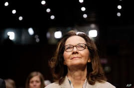 CIA nominee Gina Haspel is seated for a confirmation hearing of the Senate Intelligence Committee on Capitol Hill, May 9, 2018 in Washington.