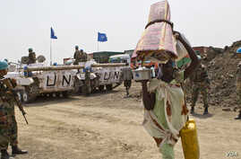 United Nations troops protect civilians in Jonglei state, where David Yau Yau's rebels have refused to accept an amnesty offer from President Salva Kiir.