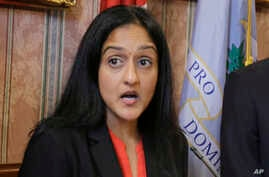 FILE - Vanita Gupta, then the head of Justice Department's Civil Rights Division, speaks in Cleveland, May 26, 2015.