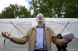 Britain's opposition Labour Party leader Jeremy Corbyn speaks at an anti-racism rally in London, Britain, July 2, 2016.