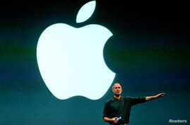 Apple CEO, Steve Jobs, speaks in London during the launch of the European iTunes online music store in this June 15, 2004 file photo.