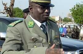 A picture taken on August 3, 2010 shows Niger's number two junta leader Colonel Abdoulaye Baide during ceremonies for the 50th anniversary of the country's independence in Niamey. Abdoulaye Badie, is under arrest at military headquarters in Niamey.