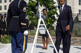 Obama Pays Respects at Site of Pentagon Attack
