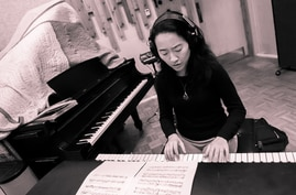 Helen Sung in her studio (courtesy photo by Kat Villacorta).