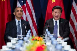 FILE - President Barack Obama, left, meets with Chinese President Xi Jinping.