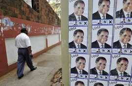 Election posters of the opposition Renamo party in Mozambique's capital, Maputo, Oct. 2009 file photo.