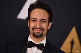 Lin-Manuel Miranda arrives at the 2016 Governors Awards, Nov. 12, 2016, in Los Angeles.