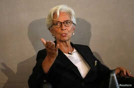Managing Director of the International Monetary Fund, Christine Lagarde, speaks at the Bank of England conference 'Independence 20 Years On' at the Fishmonger's Hall in London, Britain September 29, 2017.