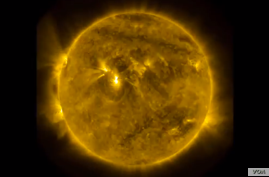 Solar activity is seen in a screenshot of a NASA video
