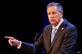 Ohio Gov. John Kasich delivers his State of the State address at the Sandusky State Theatre, April 4, 2017, in Sandusky, Ohio.