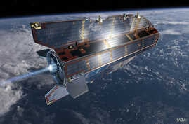 GOCE orbit is so low that it experiences drag from the outer edges of Earth's atmosphere. The satellite's streamline structure and use of electric propulsion system counteract atmospheric drag to ensure that the data are of true gravity. (ESA /AOES M